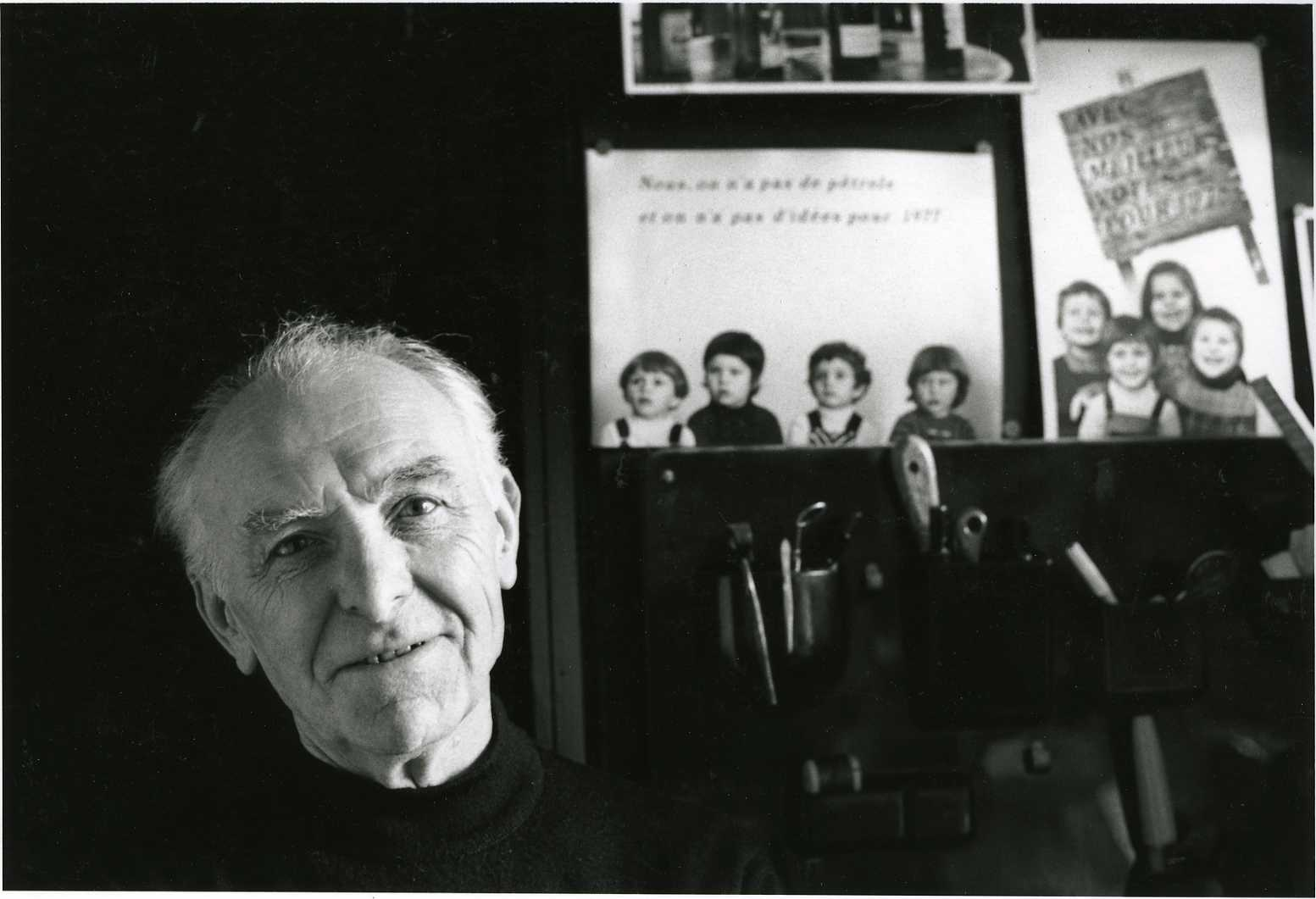 Robert Doisneau in his studio in Montrouge 1992 - Icon Photography School
