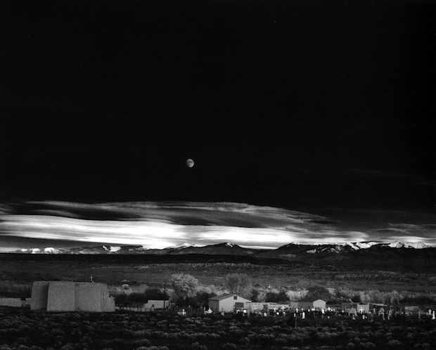 Ansel Adams Moon Over Hernandez